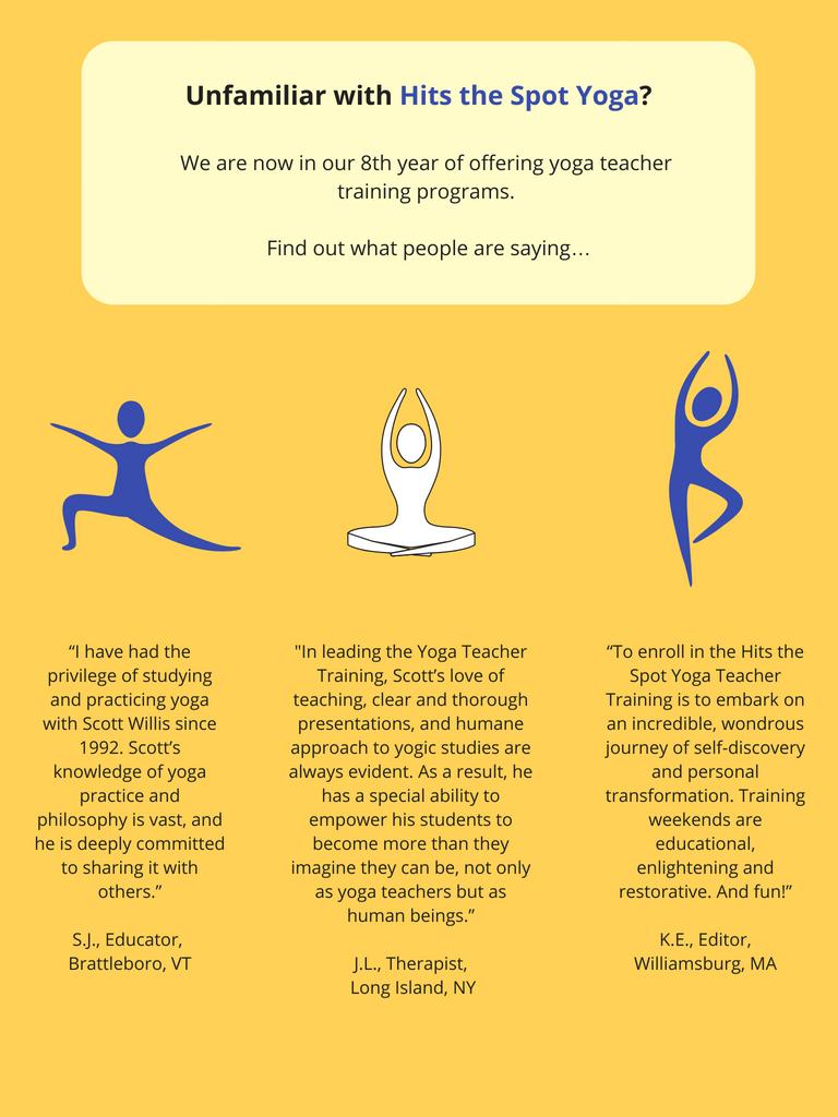 Brattleboro Vermont yoga teacher training-Hits the spot yoga 2018